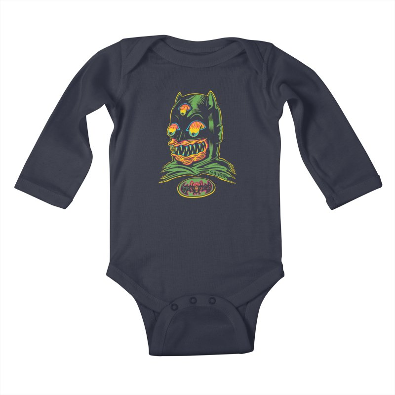 Bat-Fink Kids Baby Longsleeve Bodysuit by redleggerstudio's Shop