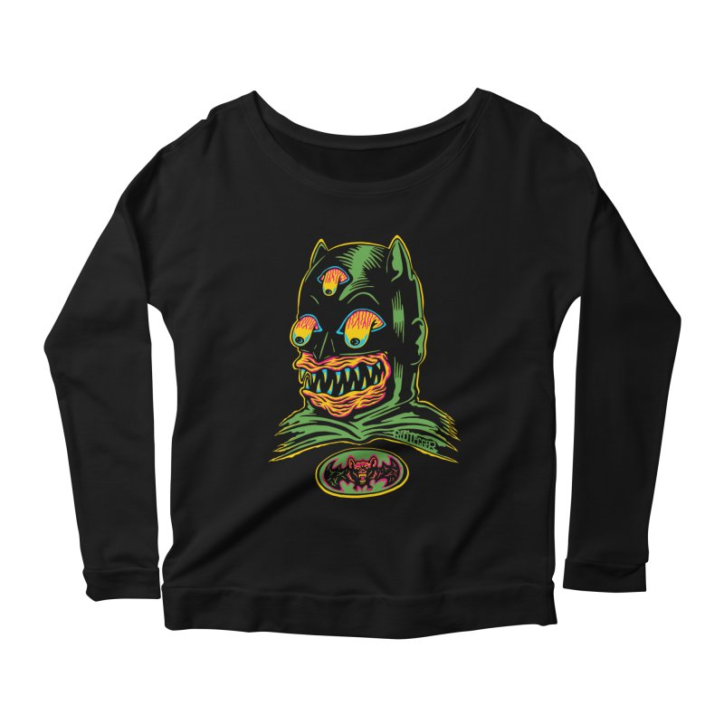 Bat-Fink Women's Longsleeve Scoopneck  by redleggerstudio's Shop