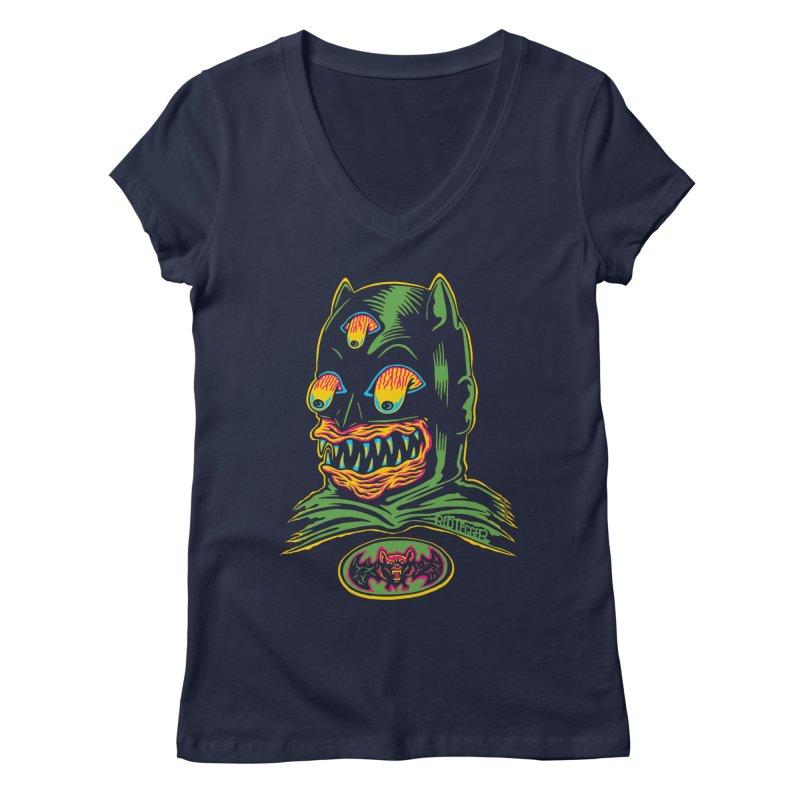 Bat-Fink Women's V-Neck by redleggerstudio's Shop