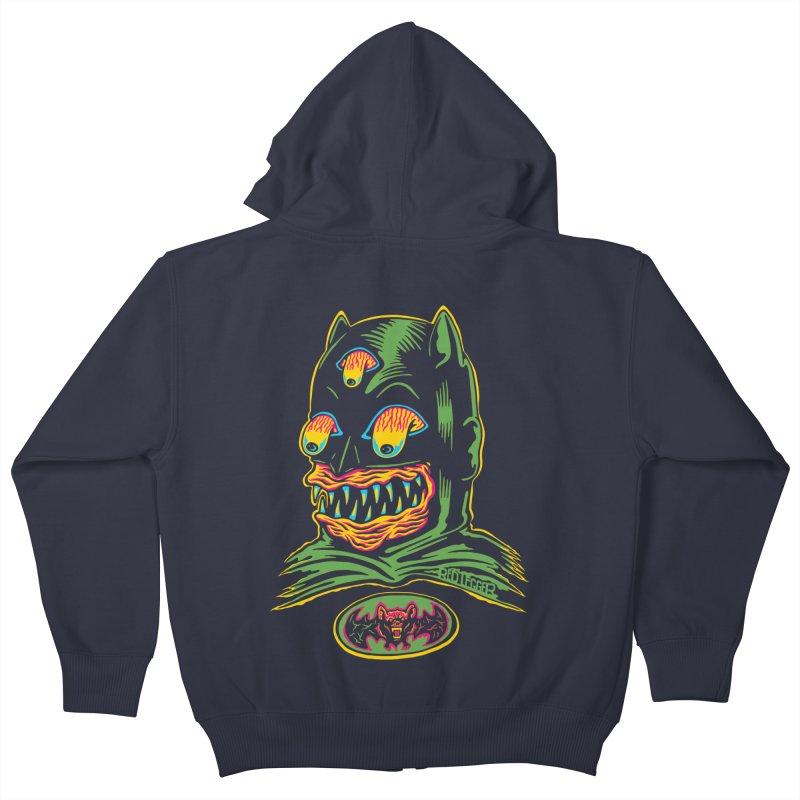 Bat-Fink Kids Zip-Up Hoody by redleggerstudio's Shop