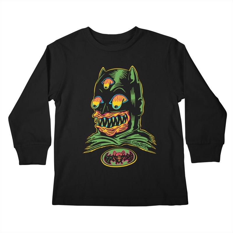 Bat-Fink Kids Longsleeve T-Shirt by redleggerstudio's Shop
