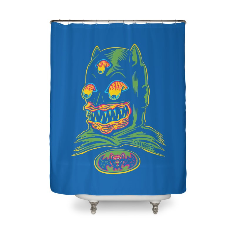 Bat-Fink Home Shower Curtain by redleggerstudio's Shop