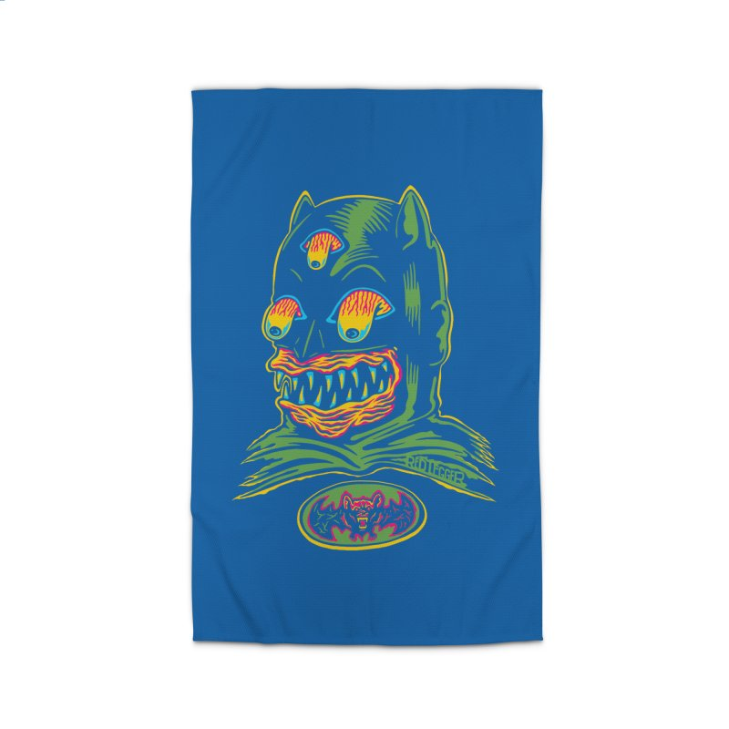 Bat-Fink Home Rug by redleggerstudio's Shop