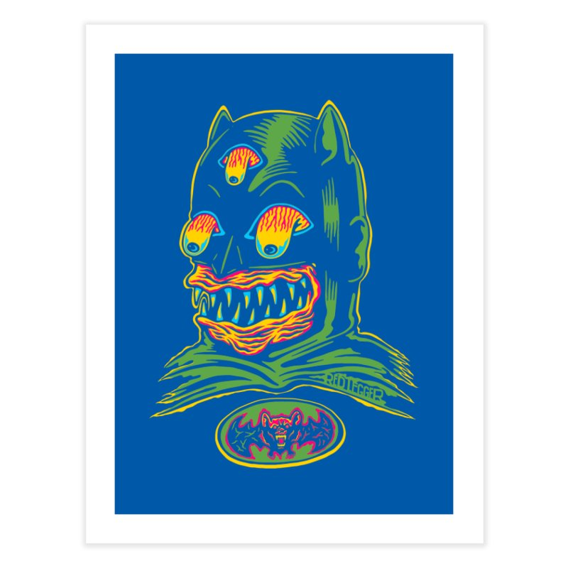 Bat-Fink Home Fine Art Print by redleggerstudio's Shop