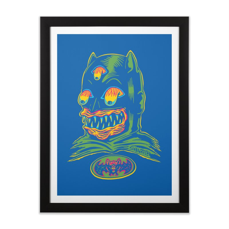 Bat-Fink Home Framed Fine Art Print by redleggerstudio's Shop
