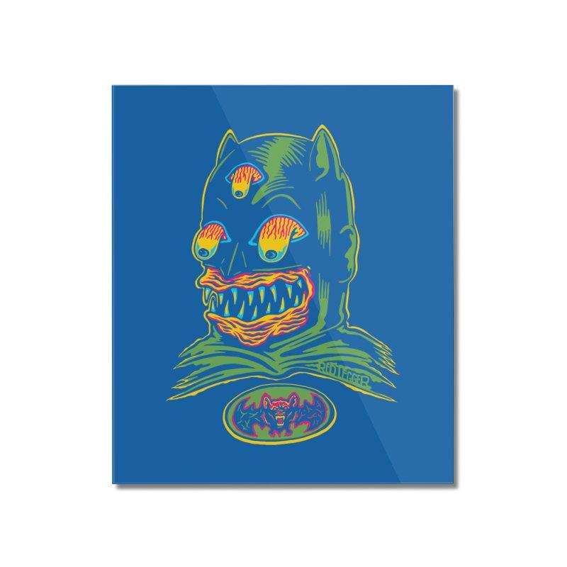 Bat-Fink Home Mounted Acrylic Print by redleggerstudio's Shop