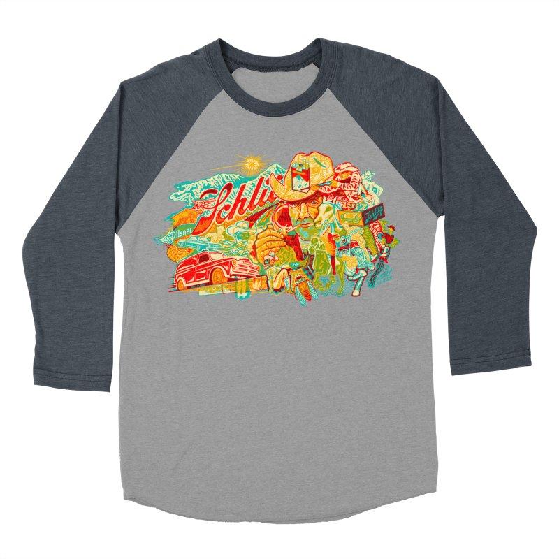 I Wanna Be a Cowboy, Baby Men's Baseball Triblend T-Shirt by redleggerstudio's Shop