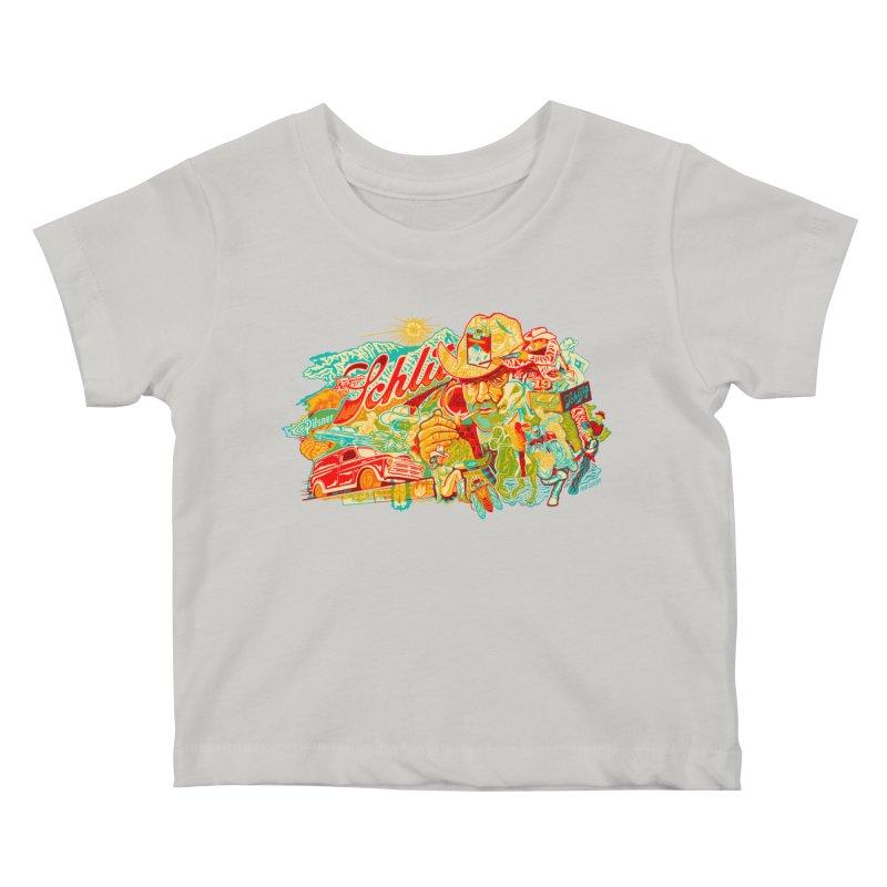 I Wanna Be a Cowboy, Baby Kids Baby T-Shirt by redleggerstudio's Shop