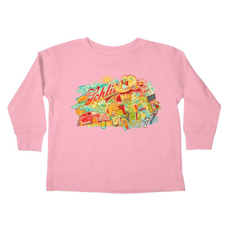 I Wanna Be a Cowboy, Baby Kids Toddler Longsleeve T-Shirt by redleggerstudio's Shop
