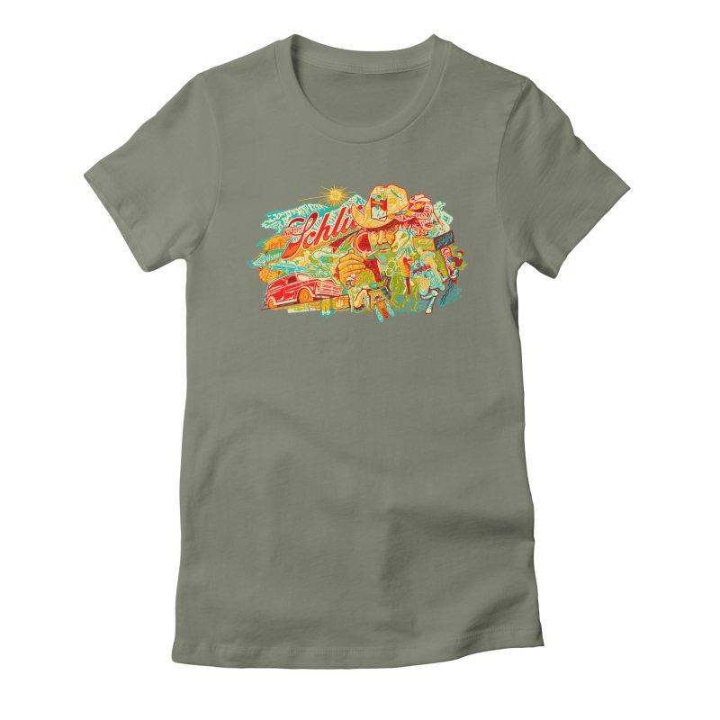 I Wanna Be a Cowboy, Baby Women's Fitted T-Shirt by redleggerstudio's Shop