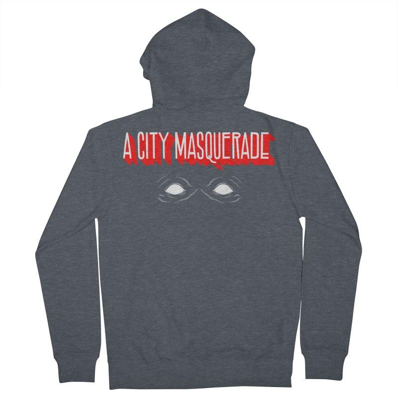 A City Masquerade Men's Zip-Up Hoody by redleggerstudio's Shop