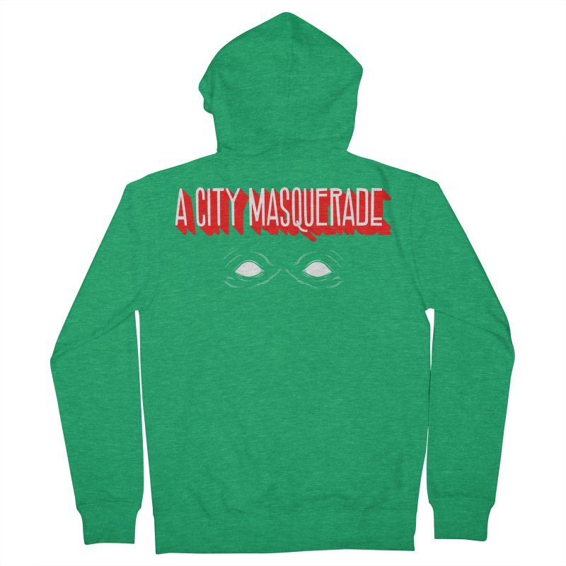 A City Masquerade Men's Zip-Up Hoody by redleggerstudio's Shop