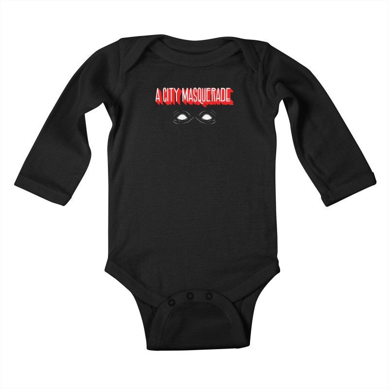 A City Masquerade Kids Baby Longsleeve Bodysuit by redleggerstudio's Shop