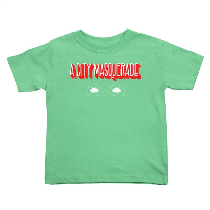 A City Masquerade Kids Toddler T-Shirt by redleggerstudio's Shop