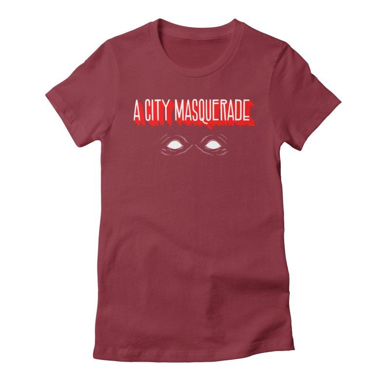 A City Masquerade Women's Fitted T-Shirt by redleggerstudio's Shop