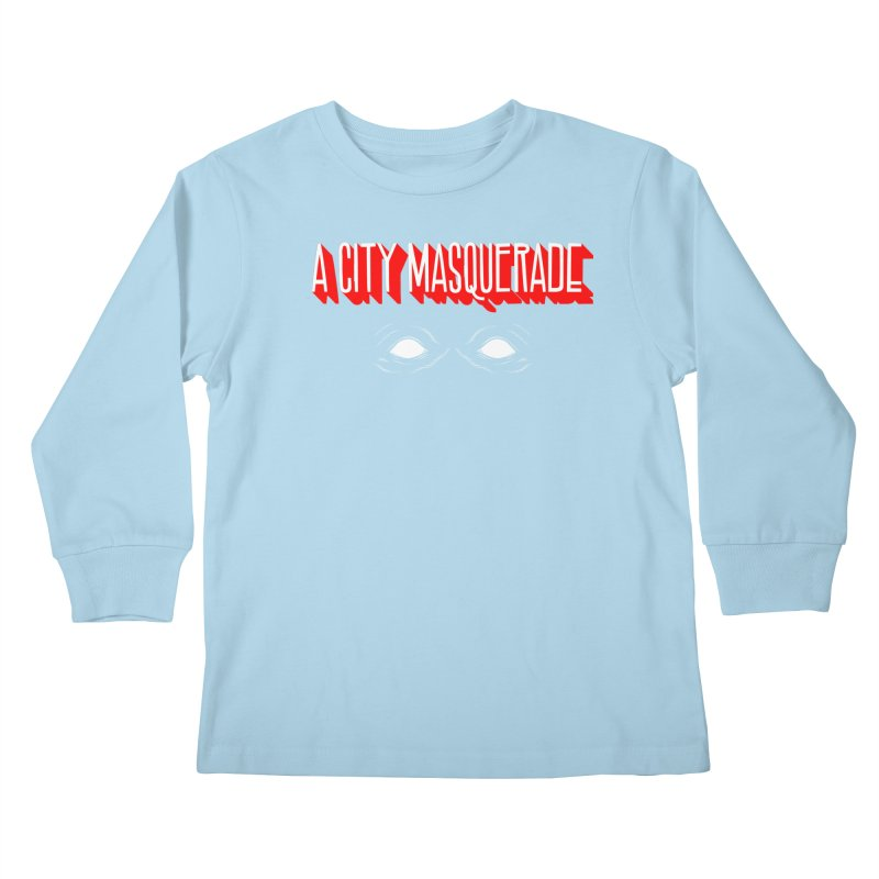 A City Masquerade Kids Longsleeve T-Shirt by redleggerstudio's Shop
