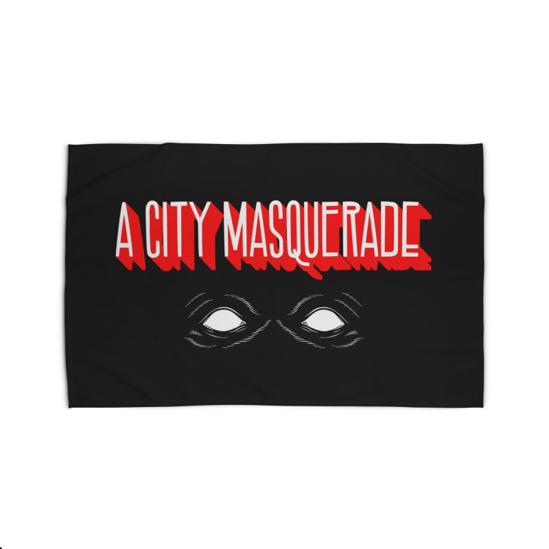 A City Masquerade Home Rug by redleggerstudio's Shop