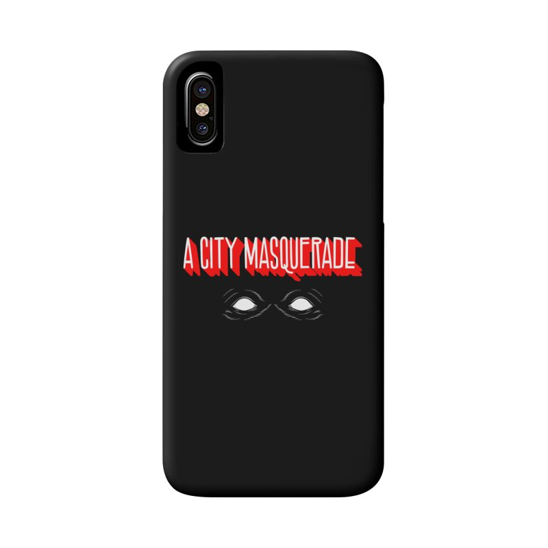 A City Masquerade Accessories Phone Case by redleggerstudio's Shop