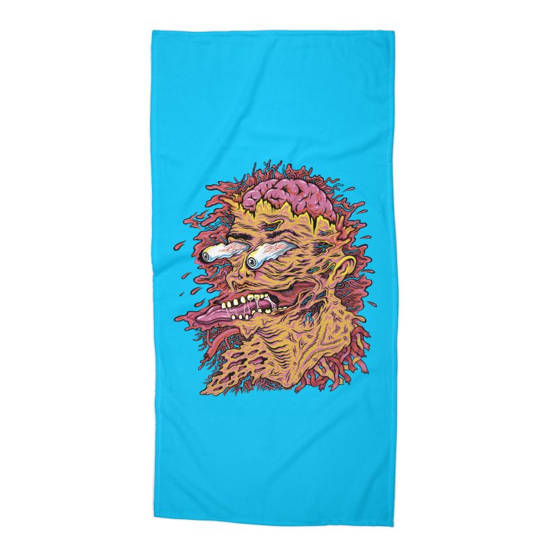 Heads Will Roll Accessories Beach Towel by redleggerstudio's Shop