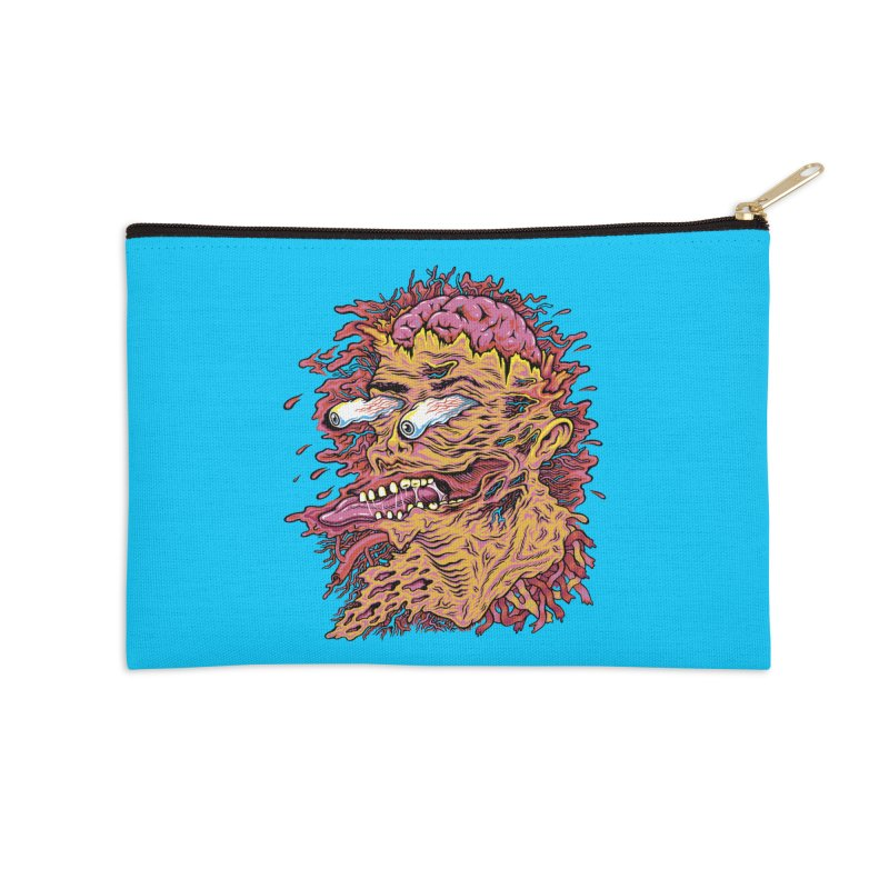 Heads Will Roll Accessories Zip Pouch by redleggerstudio's Shop