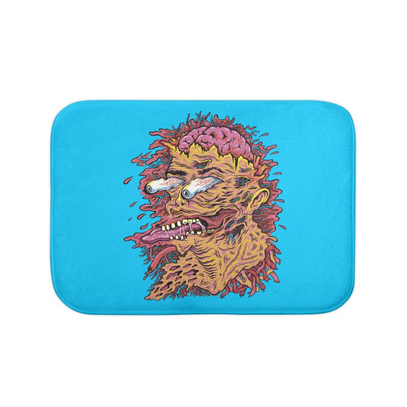 Heads Will Roll Home Bath Mat by redleggerstudio's Shop