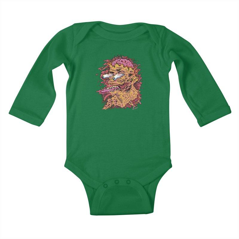 Heads Will Roll Kids Baby Longsleeve Bodysuit by redleggerstudio's Shop