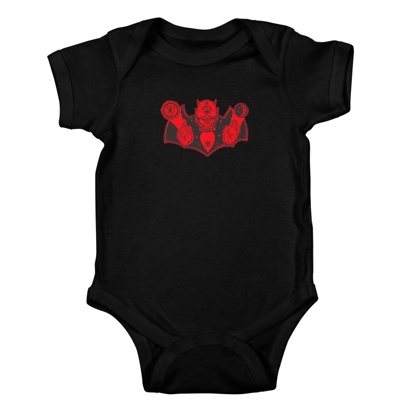 Ouija God Kids Baby Bodysuit by redleggerstudio's Shop