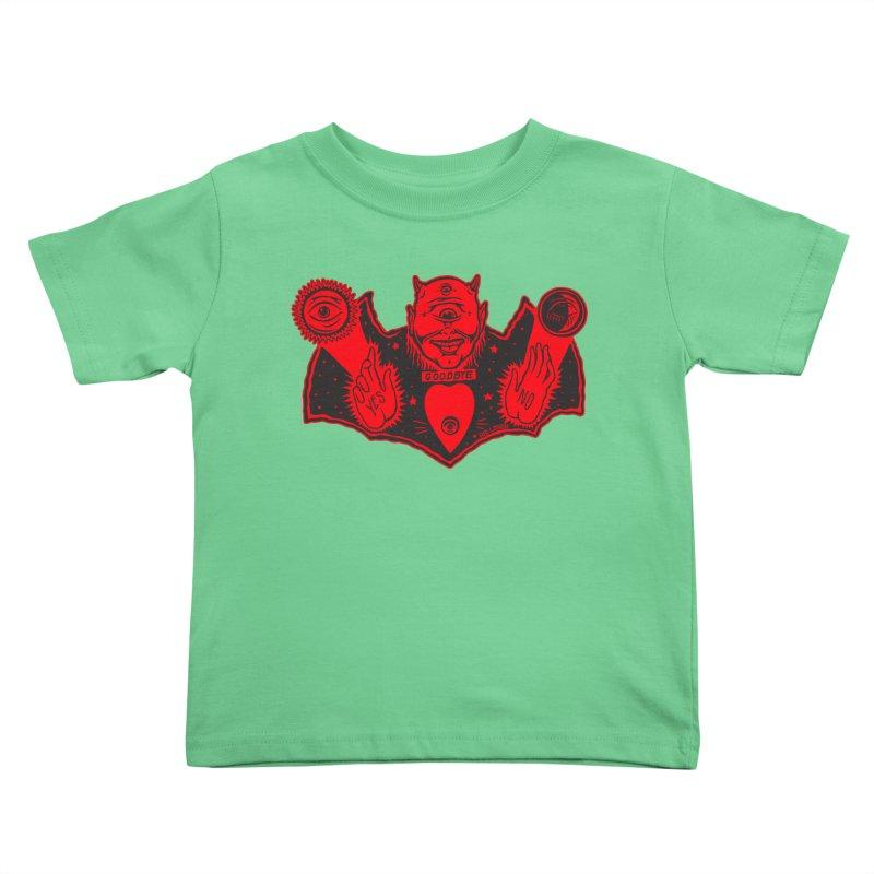 Ouija God Kids Toddler T-Shirt by redleggerstudio's Shop