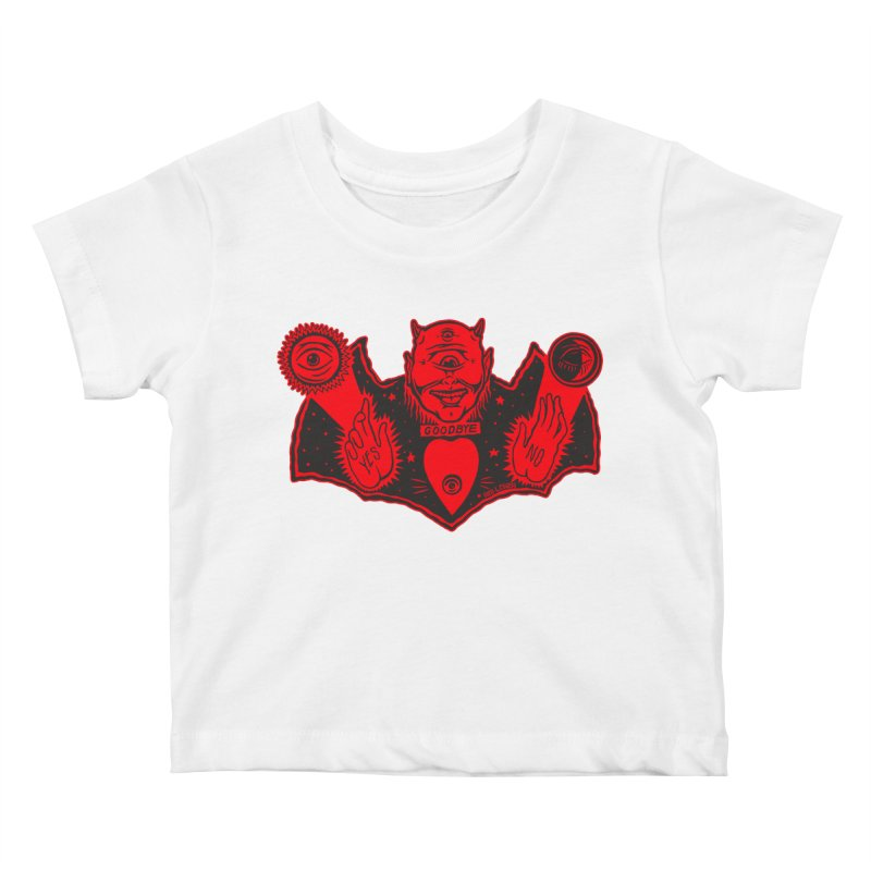 Ouija God Kids Baby T-Shirt by redleggerstudio's Shop