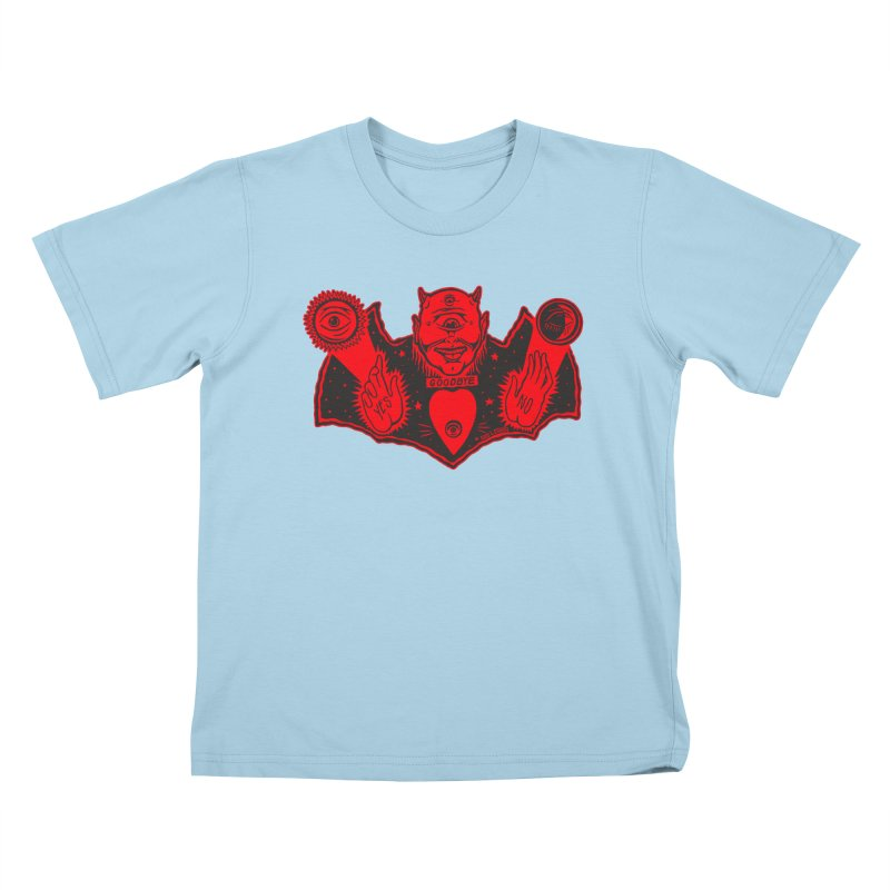 Ouija God Kids T-Shirt by redleggerstudio's Shop