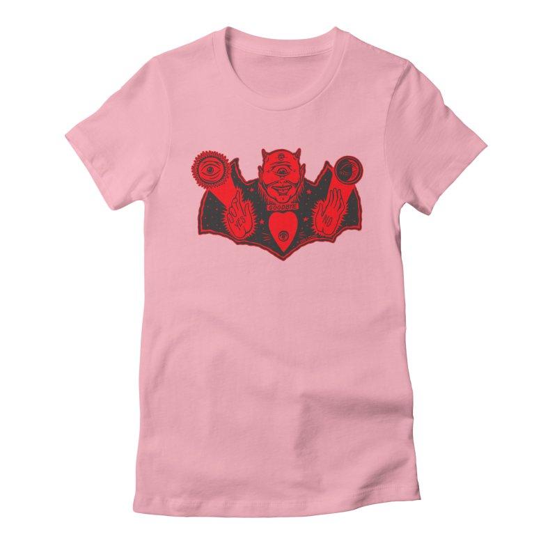 Ouija God Women's Fitted T-Shirt by redleggerstudio's Shop