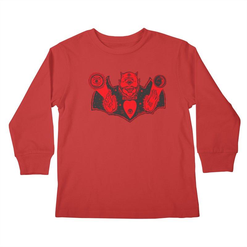 Ouija God Kids Longsleeve T-Shirt by redleggerstudio's Shop