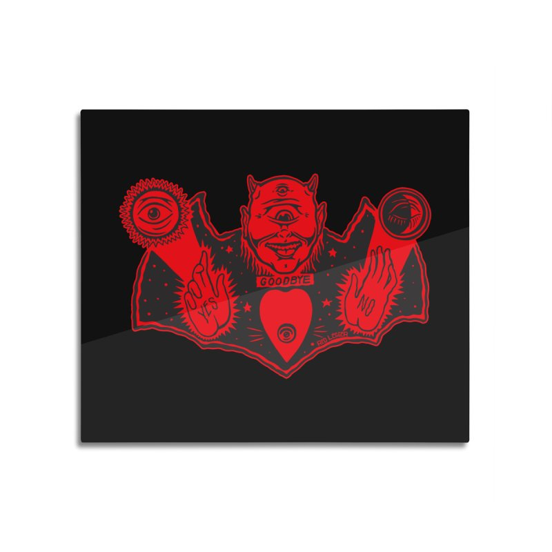 Ouija God Home Mounted Aluminum Print by redleggerstudio's Shop