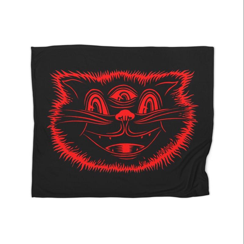 Meow Meow Home Blanket by redleggerstudio's Shop