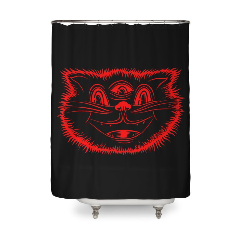 Meow Meow Home Shower Curtain by redleggerstudio's Shop