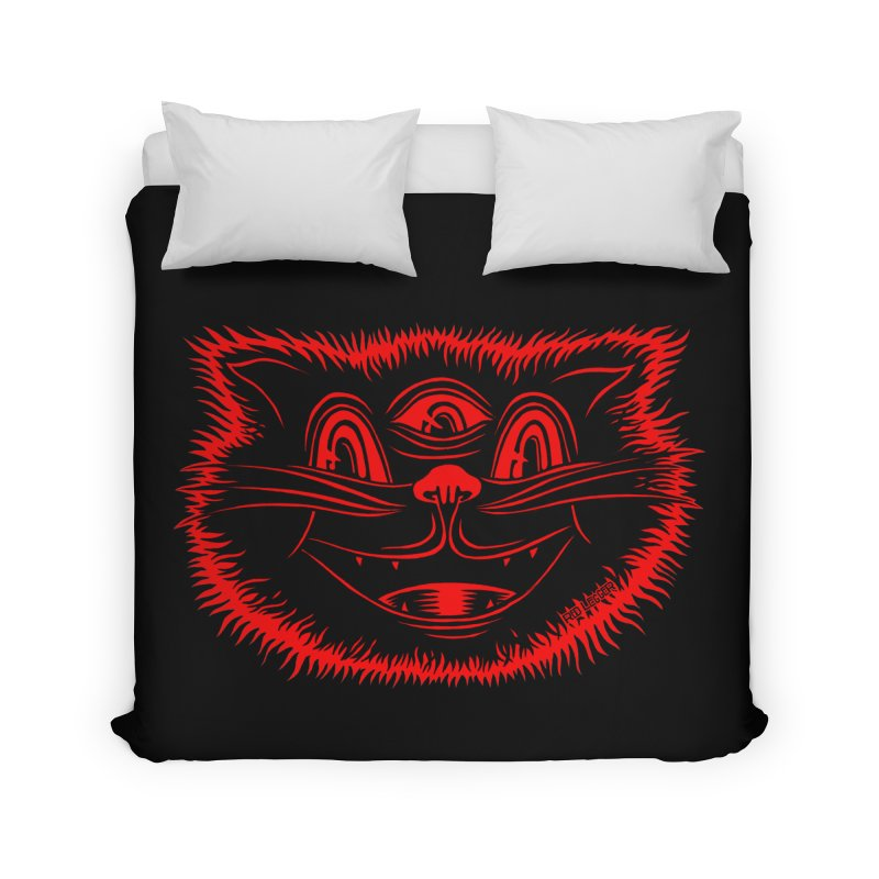Meow Meow Home Duvet by redleggerstudio's Shop