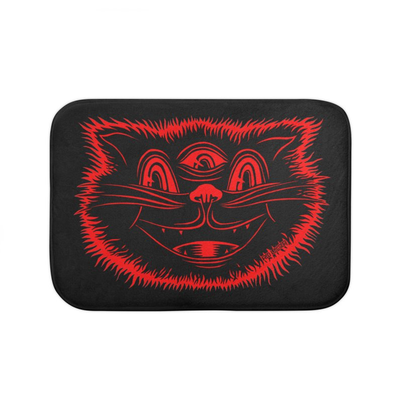 Meow Meow Home Bath Mat by redleggerstudio's Shop