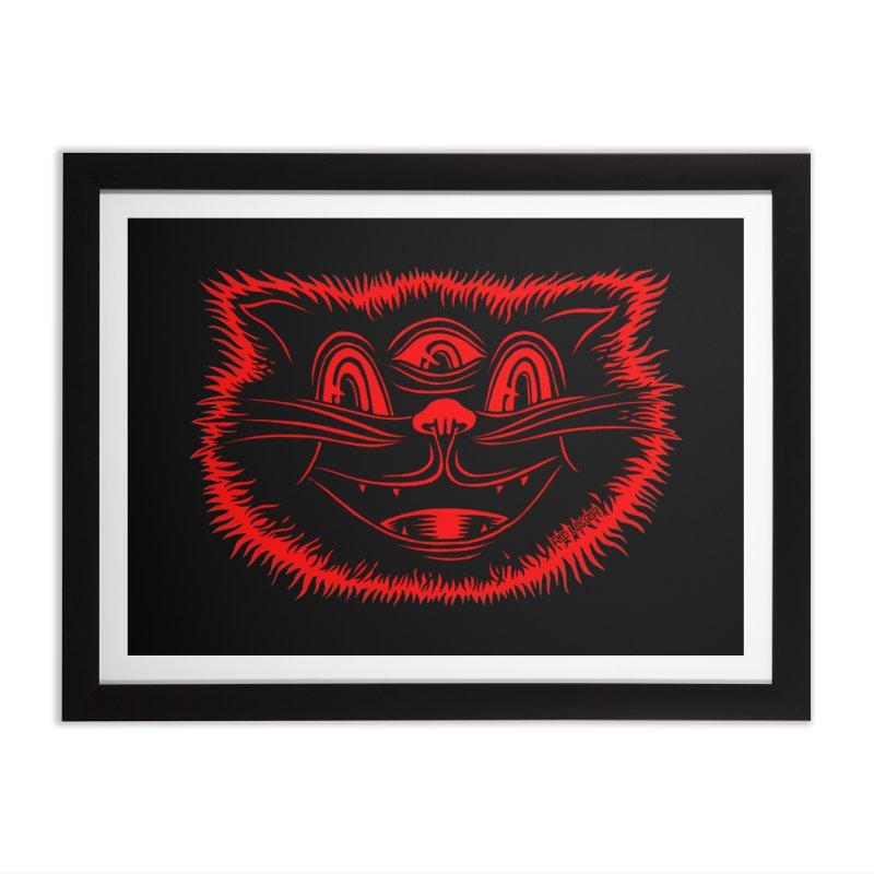 Meow Meow Home Framed Fine Art Print by redleggerstudio's Shop