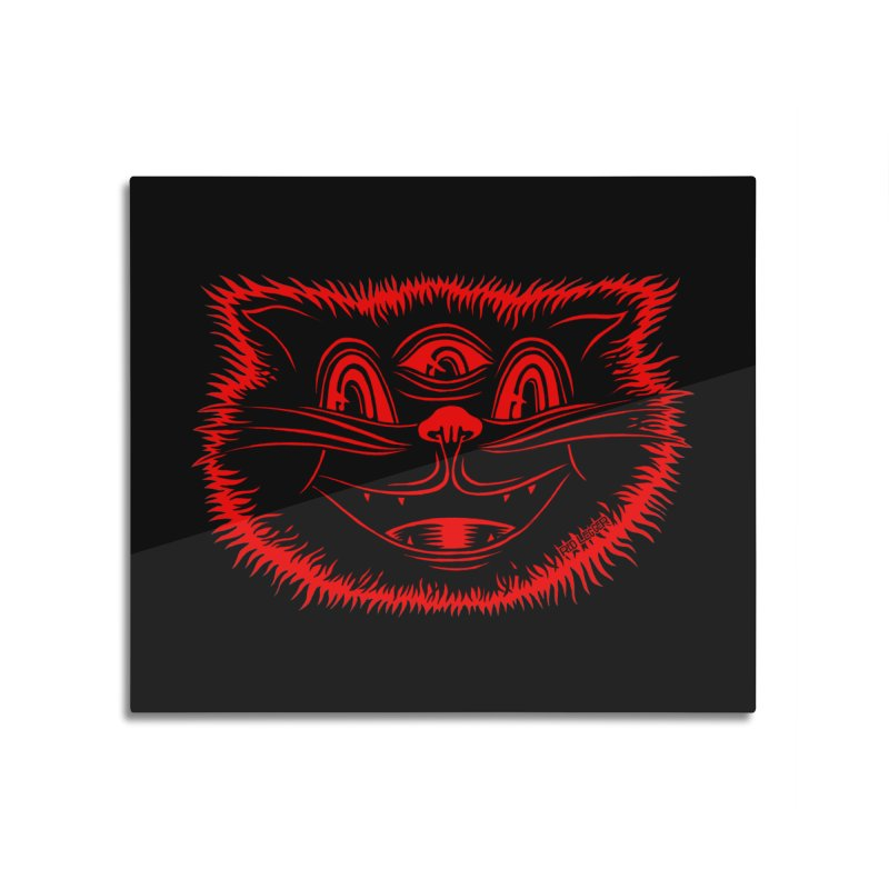 Meow Meow Home Mounted Aluminum Print by redleggerstudio's Shop