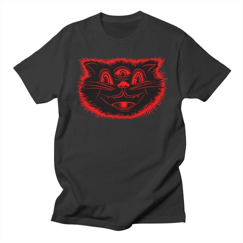 Meow Meow in Men's Regular T-Shirt Smoke by redleggerstudio's Shop