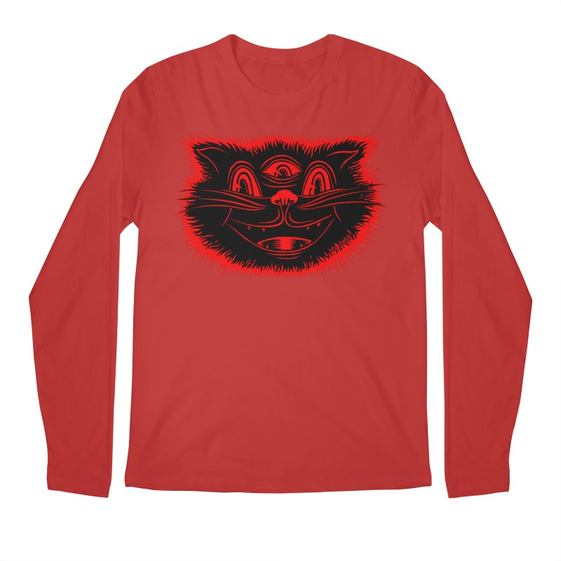 Meow Meow Men's Longsleeve T-Shirt by redleggerstudio's Shop