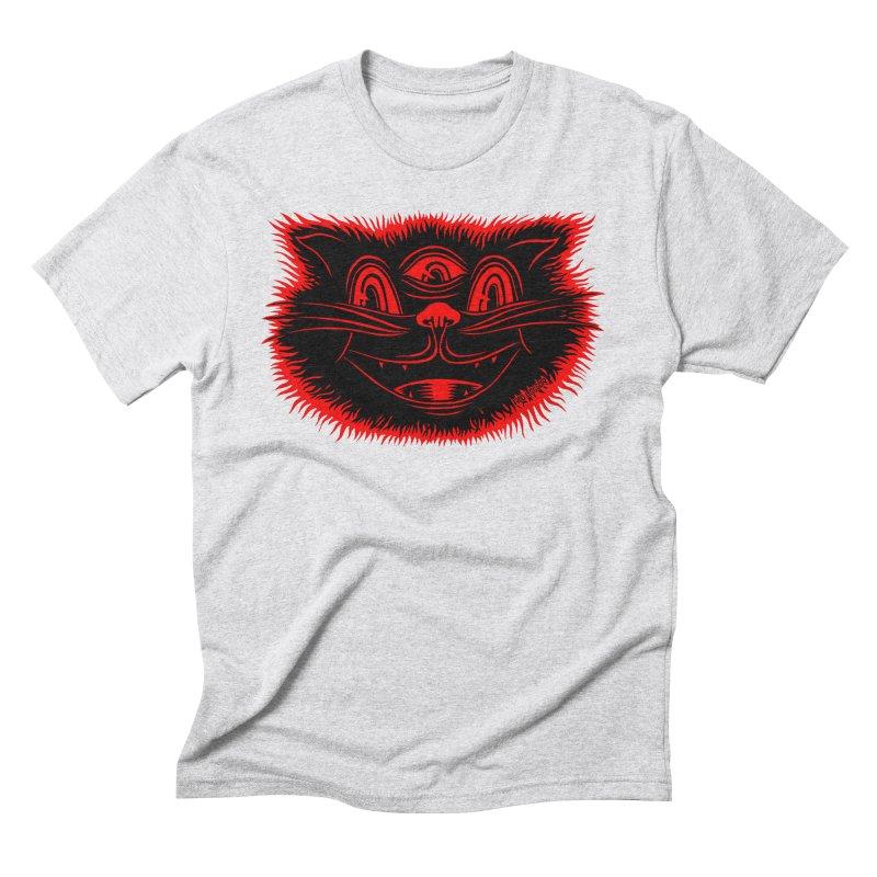Meow Meow Men's Triblend T-Shirt by redleggerstudio's Shop