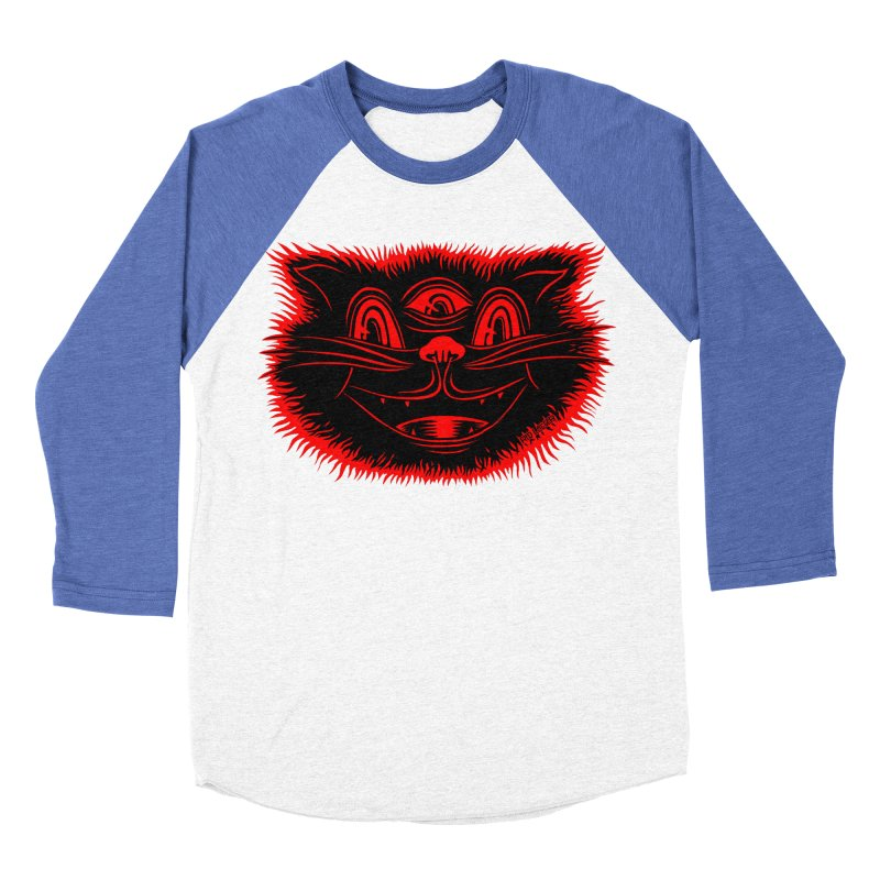 Meow Meow Women's Baseball Triblend Longsleeve T-Shirt by redleggerstudio's Shop