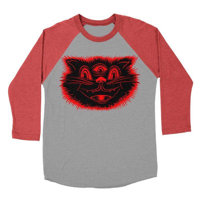 Meow Meow Men's Baseball Triblend T-Shirt by redleggerstudio's Shop