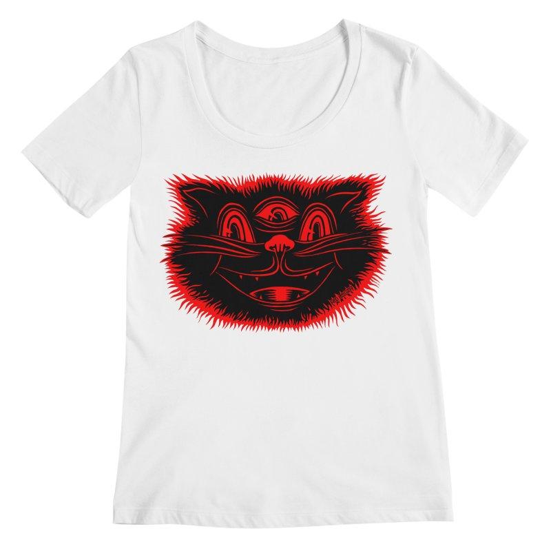 Meow Meow Women's Regular Scoop Neck by redleggerstudio's Shop
