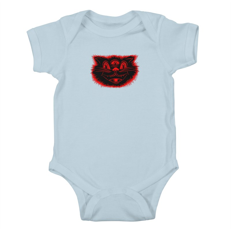 Meow Meow Kids Baby Bodysuit by redleggerstudio's Shop