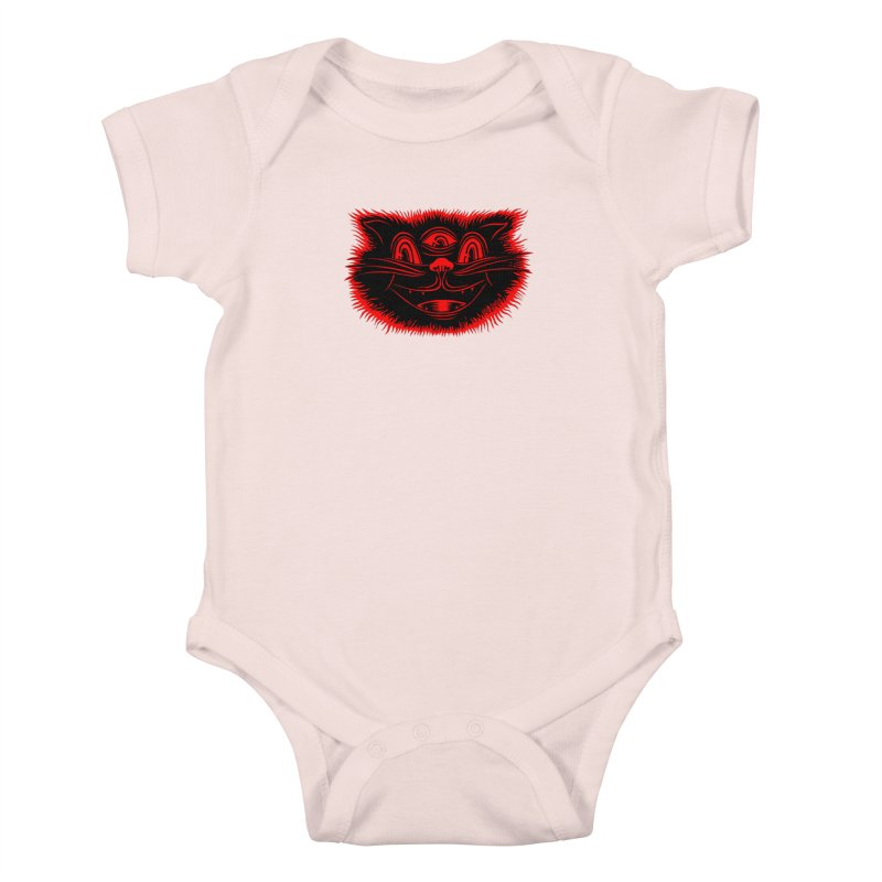 Meow Meow Kids Baby Bodysuit by redleggerstudio's Shop