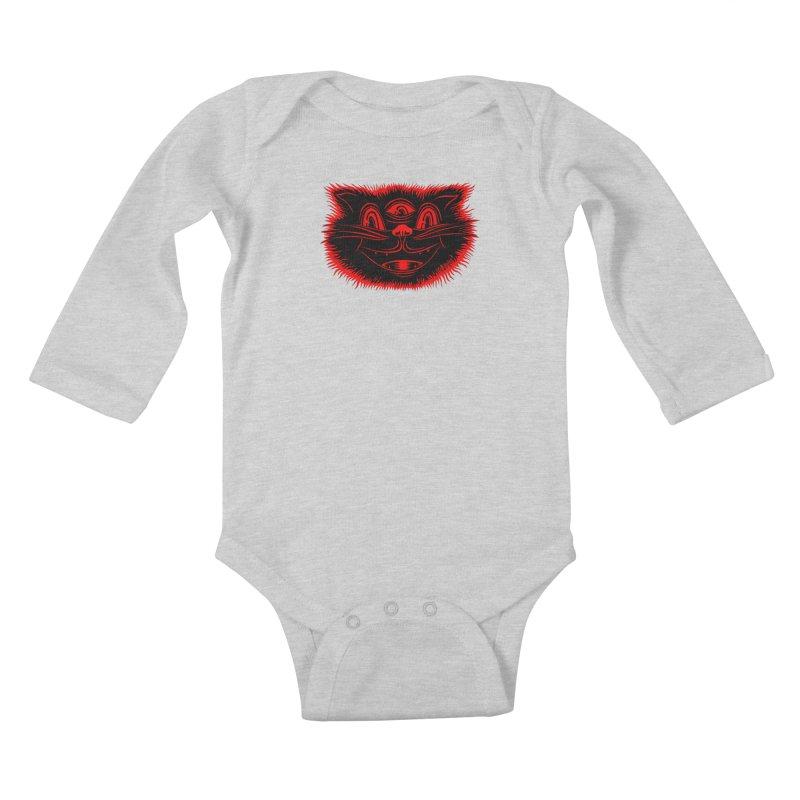 Meow Meow Kids Baby Longsleeve Bodysuit by redleggerstudio's Shop