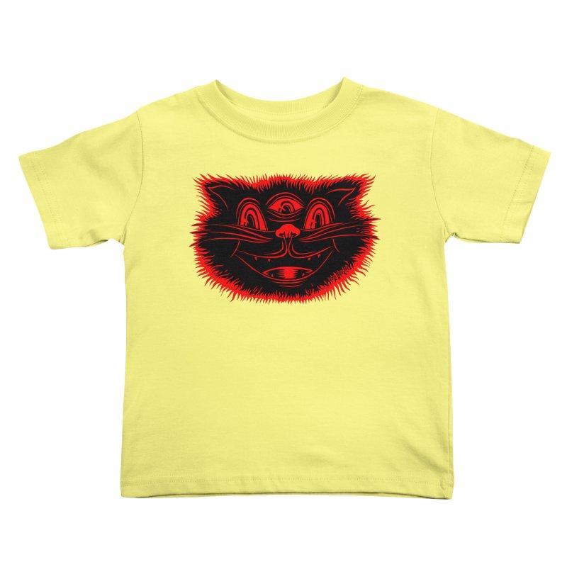Meow Meow Kids Toddler T-Shirt by redleggerstudio's Shop