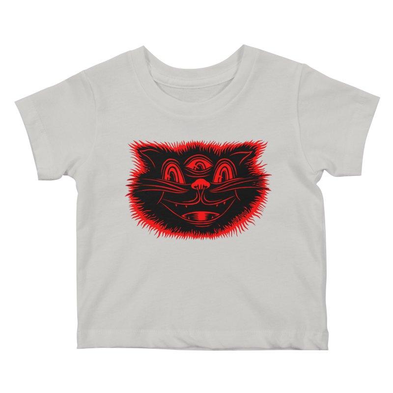 Meow Meow Kids Baby T-Shirt by redleggerstudio's Shop